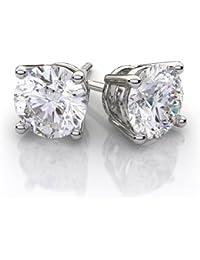 2.50Ct Round Cut Diamond Solitaire Fancy Party Wear Stud Earrings In 925 Sterling Silver