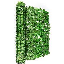 Blumfeldt Fency Dark Ivy valla de protección visual y anti viento (Malla sombreo 300x150 cm