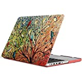 iCasso New Art Fashion Image Series Ultra Slim Light Weight Rubberized Hard Case Glossy Clear Crystal Snap-On Hard Cover Case for MacBook Pro 15 inch Retina (Model: A1398) - Birds