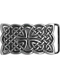 Landisun nœud celtique fait à la main Boucle de Ceinture Rectangulaire
