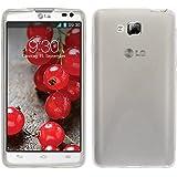 Funda de silicona para LG Optimus L9 II - X-Style transparente - Cover PhoneNatic Cubierta + protector de pantalla