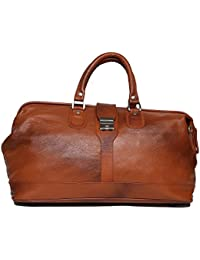 Reo Leather Luggage Bag SL026 Travel Bag Ultra Locking Features (TAN)