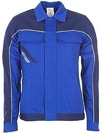Highline Arbeitskleidung Damen Bundjacke schiefer/schwarz/rot