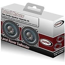 """Land Rover Defender Altavoces Dash frontales Mac Audio 4""""Altavoz Kit + espaciadores 160W"""
