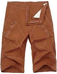 Guiran Hombre Cargo Shorts Pantalones Cortos Bermudas Pantalones Militar  Pantalones Deporte Shorts Rojo 36 be37e4634ecd