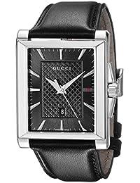 Gucci  YA138404 - Reloj de cuarzo unisex, con correa de acero inoxidable, color negro