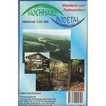 Hochharz - Bodetal: Rad- und Wanderkarte 1:25000. Mit Stadtplan 1:10000