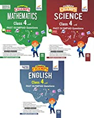 Olympiad Champs Science, Mathematics, English Class 4 with Past Questions 4th Edition (set of 3 books)