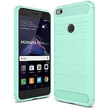 Funda Huawei P8 Lite 2017 - IVSO Slim Armor Silicio Cover Funda Protectora de Carcasa Funda para Huawei P8 Lite 2017 Smartphone (Menta verde)
