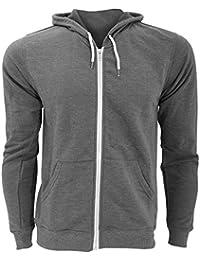 FLOSO - Sweatshirt à capuche et fermeture zippée - Homme