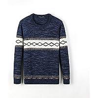 ZYZHJY Suéter del Suéter De Los Hombres,Azul,185 / XXL