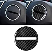 TANN Car Carbon Fiber Steering Wheel Logo Decorative Sticker for Chevrolet Camaro 2017-2019
