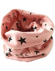 Malloom® Otoño Invierno Niños Niñas estrella collar bebé bufanda algodón O-Ring Pañuelos (Rosa)
