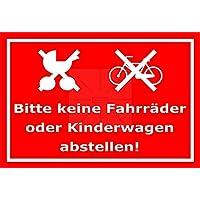 Sticker-Designs 10cm 3St/ück Aufkleber-Folie Wetterfest Made IN Germany Kinderwagen abstellen erlaubt S376 UV/&Waschanlagenfest-Profi Qualit/ät