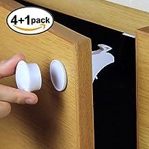 SicurezzaPrima MagicLock - die magnetische Kindersicherung mit Video-Anleitung für Schrank, Schranktüren und Schubladen, als Schrankschloss und Schubladensicherung mit Magnet, 4er Pack