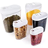 ZWOOS Plástico de Alimentos Secos Cereale Caja de Almacenamiento de La Cocina Dispensador de Contenedores con
