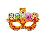 Partysanthe 10-Piece Eye Mask Assorted Photo Jungle Animals/Birthday Theme/Jungle Theme/Party Theme