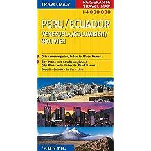 Cartes de voyage Péou, Equateur 1 : 4 Mio