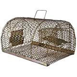Pretail Iron Trap/Cage for Catching Rat/Mouse/Rodent/Chipmunk/Squirrels, Humane(No Kill), Big Size & Durable
