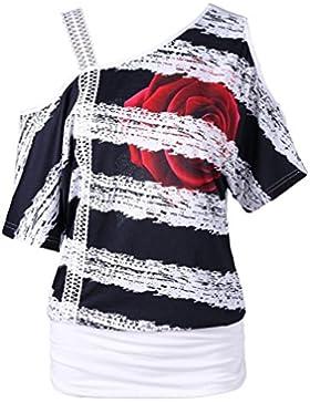 FAMILIZO Camisetas Mujer Verano ❤️S~2XL Blusa Mujer Elegante Camisetas Mujer Manga Corta Algodón Camisetas Mujer...