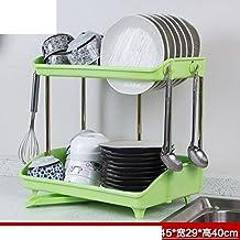 doppio rack piatto/Cucina rack/Scarico di plastica/Cabinet rack