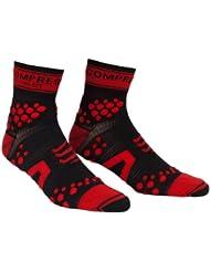 Compressport Pro Racing V2 Trail Hi - Calcetines para mujer, color negro / rojo, talla M