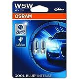 OSRAM COOL BLUE INTENSE W5W lampada alogena per luce di posizione o targa per auto, 2825HCBI-02B, 12V PKW, blister doppio (2 pezzi)