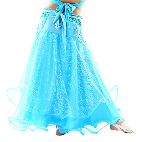 auchtanz Silber Mesh Weihnachten Outfit Rock (Blauer See) (Drehen Sie Das Weiße Kleid In Halloween-kostüm)