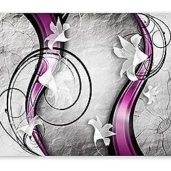 murando – Papier peint intissé – 350x256 cm – Trompe l oeil - Tableaux muraux – Déco – XXL Fleurs 10110906-85