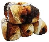 Alize Lot de 5 pelotes de Laine à Tricoter 40% Laine Multicolore 500 g...