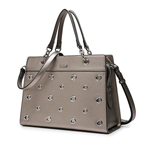 Kadell Ring Diamant Design Handtasche PU Leder Tote Top Griff Geldbörse für Frauen Bronze (Silber Weißen Diamant-ringe)