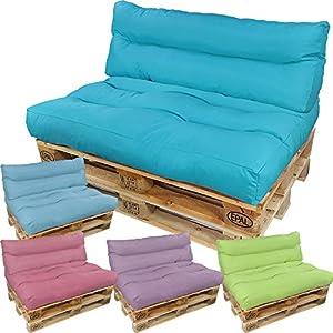 DILUMA Palettenkissen Lounge Summer Edition Set: Sitzkissen und Rückenkissen – Wasserabweisende Paletten-Auflage Polster…