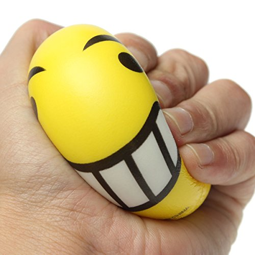 REALACC Squishy Emoji Smiley Face Anti Stress Relief Autism Mood Squeeze Ball Reliever Toy