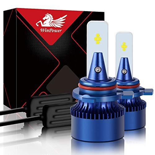 Win Power HIR2 / 9012 Led Faro Lampadina Kit di sostituzione 6000K Xeno bianca Super luminoso Lampada 12V Auto/moto Kit di aggiornamento Fendinebbia, 2 pezz