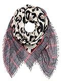 Plomo o Plata - Echarpe - Femme Multicolore Beige, Grau, Braun, Rot Taille unique