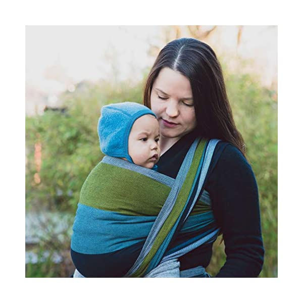 Hoppediz Woven Baby Sling (460 x 70 cm, Aberdeen) Hoppediz Suitable from birth until parent or child chooses to stop carrying 100% cotton Special broken twill weave 2