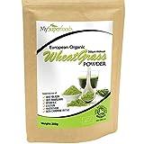 Polvo Orgánico de Agropiro (200 gramos)/MySuperFoods/Certificado como producto orgánico/Fuente de Vitamina E, Calcio, Hierro, Zinc y fibra/Poderoso antioxidante/el Polvo de mayor calidad disponible.