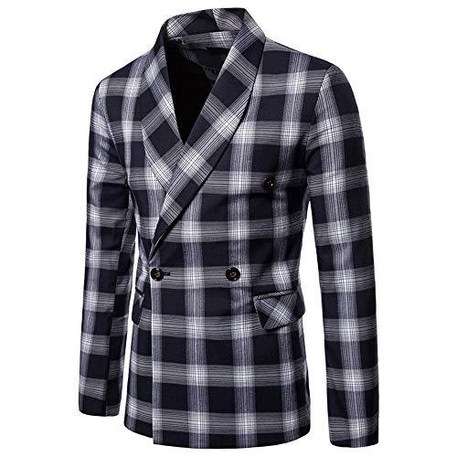 VENMO Herren Lange Ärmel Streifen Anzugjacke Sakko Anzugjacken Smokingjacke Sakko für Party Slim Fit Stylish Blazer Coat Jacket Businessjacke