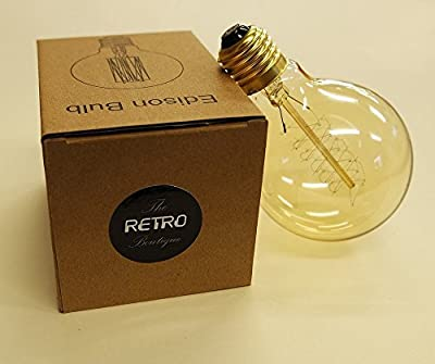 Antike Edison Lampe 60W - Retro Vintage Industry Style Deko Glühbirne Globe 80mm - The Retro Boutique ®