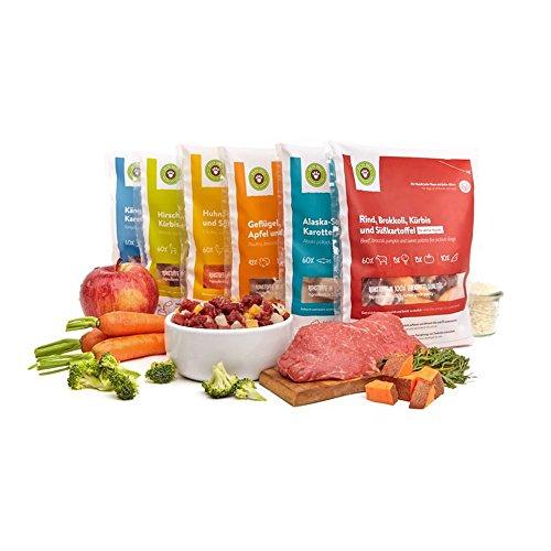 Barf Hundefutter, Starterpaket für Hunde von Pets Deli - 10 x 200g oder 400g Barf Menüs mit Kohlenhydraten (glutenfrei) (400g)