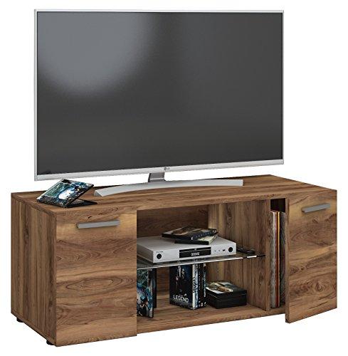 fernsehschrank holz VCM TV Lowboard Fernseh Schrank Möbel Tisch Holz Sideboard Medien Rack Bank Kern-nussbaum 40 x 95 x 36 cm