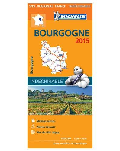 Karte Burgund Frankreich (Michelin Karte 519 Wasser- und reißfest, Bourgogne / Burgund ( Dijon, Auxerre, Mâcon, Nevers, Château-Chinon, Beaune, Châlon-sur-Saône) touristische Straßenkarte 1:200.000, indéchirable)