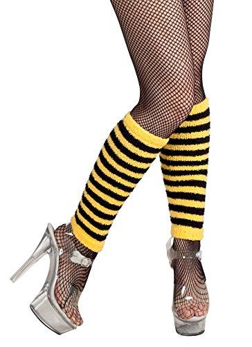 Boland 01718 - Beinwärmer Honigbiene, Einheitsgröße, gelb / schwarz (Honigbiene Kostüm)