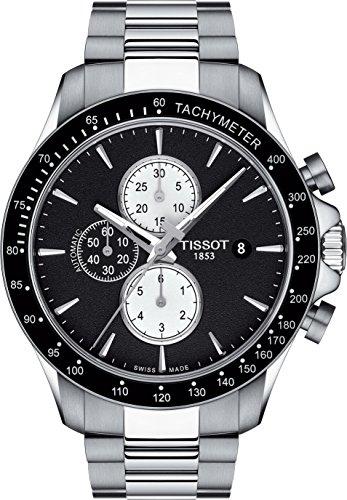 Reloj Tissot automático V8 para hombre, con cronógrafo y esfera negra, ref. T1064271105100.