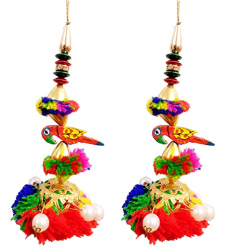 INDO STAR Multi Colour Parrot Latkan Ethnic Hanging