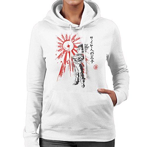 Dragon Ball Prince Of Saiyan Women's Hooded Sweatshirt White
