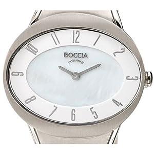 Boccia B3165-10 - Reloj de cuarzo para mujer, con correa de titanio, color plateado de Boccia