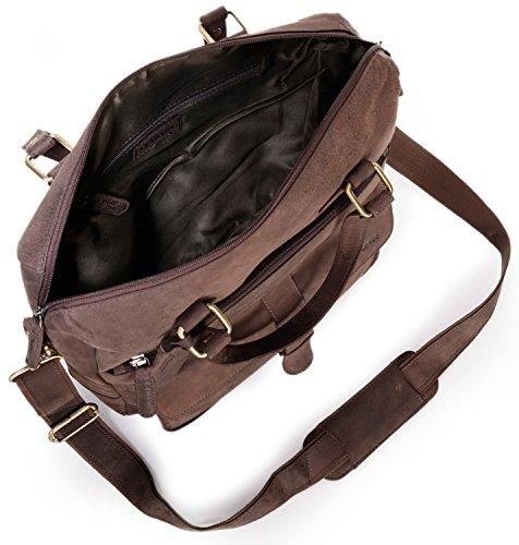 LEABAGS Fremont borsa vintage in vera pelle di bufalo - Noce moscata Noce moscata