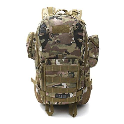 FFZH Sport all'aria aperta borsa di tela impermeabile borse multifunzione mimetica assalto tattico pacchetto campeggio zaino trekking duffle , E C