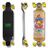 Clans Beginner Longboard Drop Down Downhill Komplettboard Crazy 41.25 x 9.75 inch
